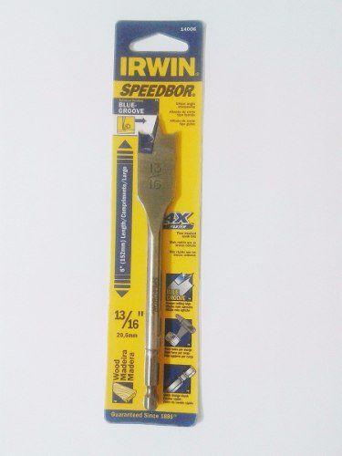 Broca Chata Para Madeira Irwin 6 X 13/16 - 20.6mm Iw14006