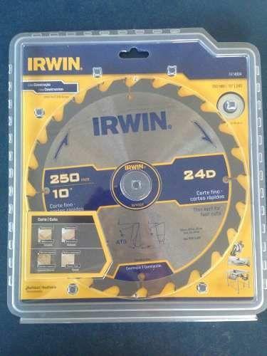 Disco Serra De Mesa Madeira Dura 250mm 24d Irwin - Iw14304