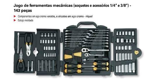 Jogo Ferramentas Para Mecânico Com 143 Peças Stanley 97-543