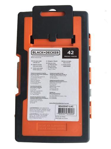 Jogo Para Micro-retifica 42 Pecas - Bda3047 Black+decker