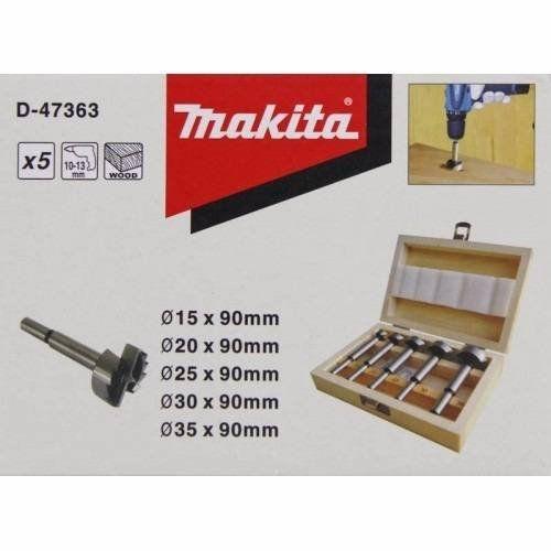 Estojo Com 5 Brocas Forstner - D-47363 Makita
