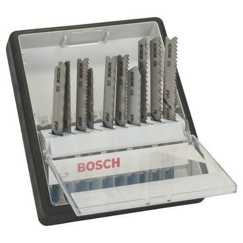 Jogo De 10 Laminas Serra Tico Tico Metal Robust Line Bosch