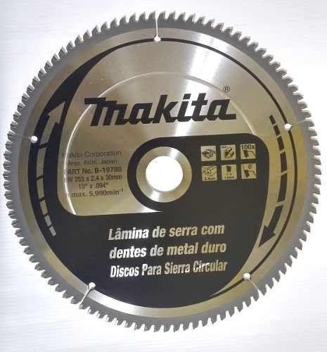 DISCO DE SERRA 10 POL 100 DENTES P/ ALUMINIO - B-19788 MAKITA