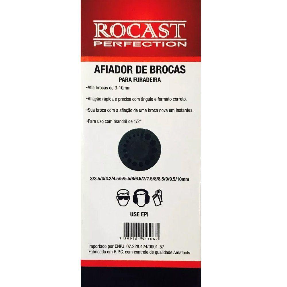 AFIADOR DE BROCAS PARA FURADEIRA 3 A 10 MM - ROCAST 365,0001