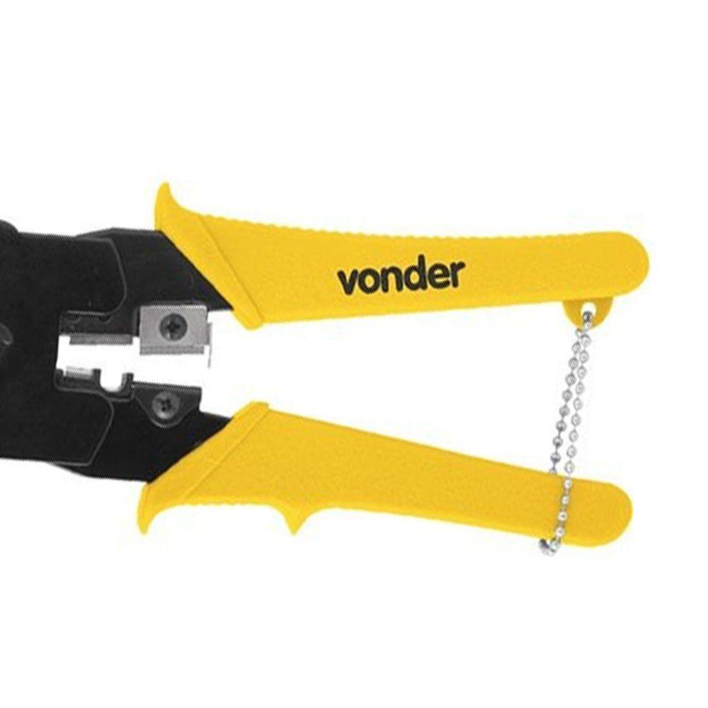 ALICATE CRIMPADOR ACV245 PARA RJ45 - VONDER