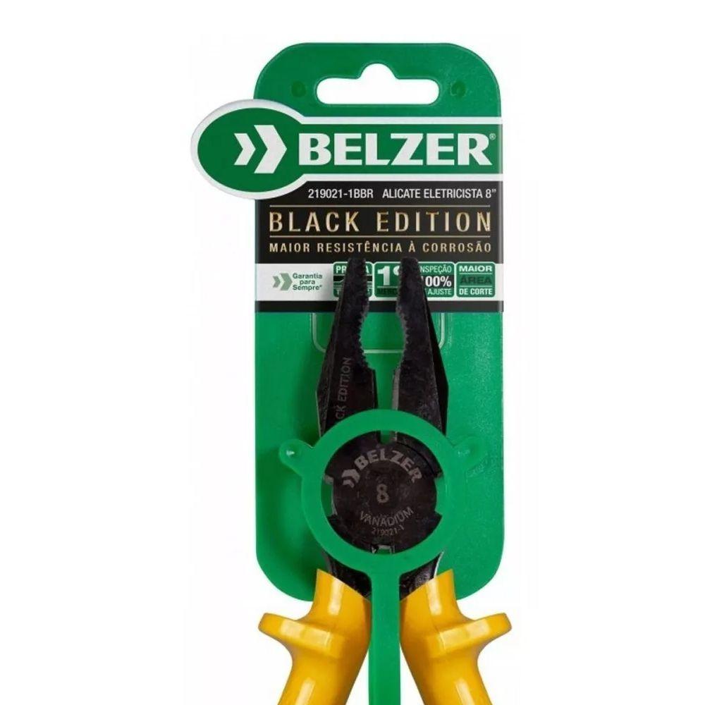 ALICATE ELETRICISTA 8 POL. BLACK EDITION-  219021-1BBR BELZER
