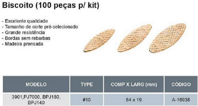Biscoito P/ Fresadora De Junção 10 Espessura 4 Mm - Makita