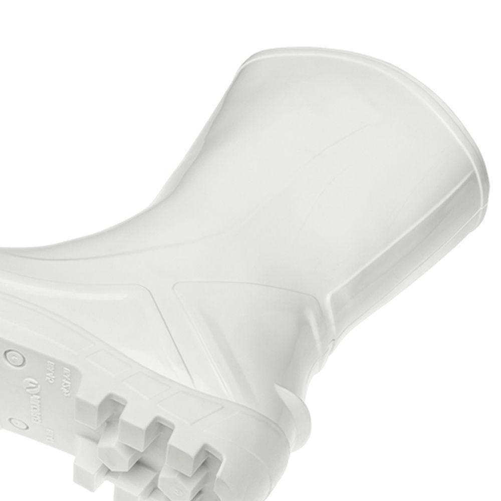 BOTA PVC SEM FORRO INTERNO BRANCA 110VFLEX-BR  VILCAFLEX