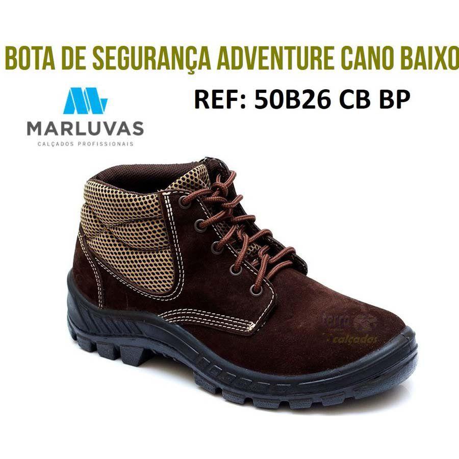 BOTINA / BOTA CANO BAIXO ACOLCHOADA DE COURO - MARLUVAS - 50B26 CB BP