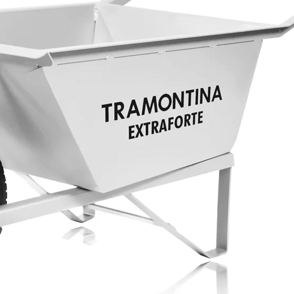 CARRINHO DE MAO 80L BRAÇO E CACAMBA QUADRADA METALICA REFORCADA  - TRAMONTINA