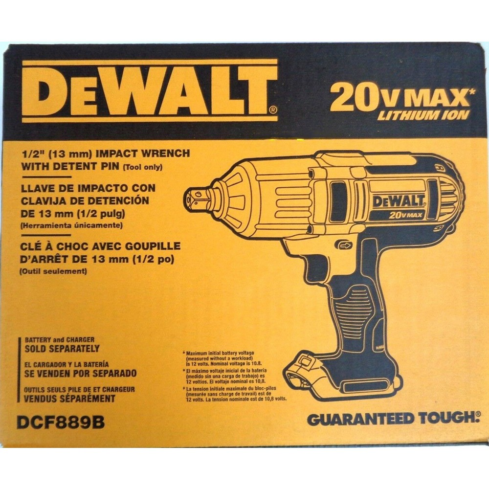 CHAVE DE IMPACTO 1/2 20V  MAX LI-ION 540Nm - DCF889B DEWALT