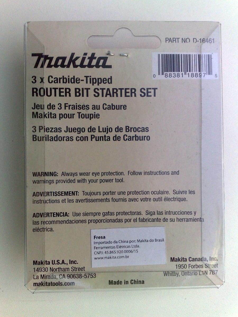 Conjunto De Fresas Com 3 Peças D - 16461 Makita