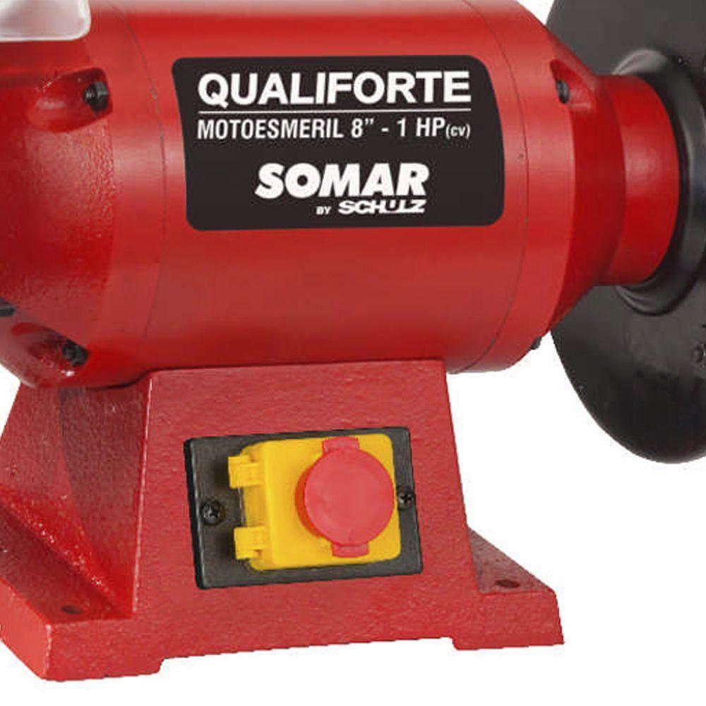 MOTO ESMERIL DE BANCADA QUALIFORTE 8 POL - SOMAR BY SCHULZ 10011021