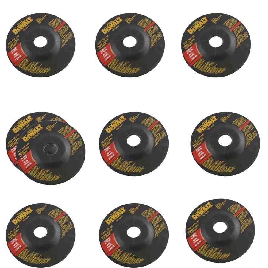 Kit com 10 Disco ABR. Desbaste Metal - DW44540 - Dewalt