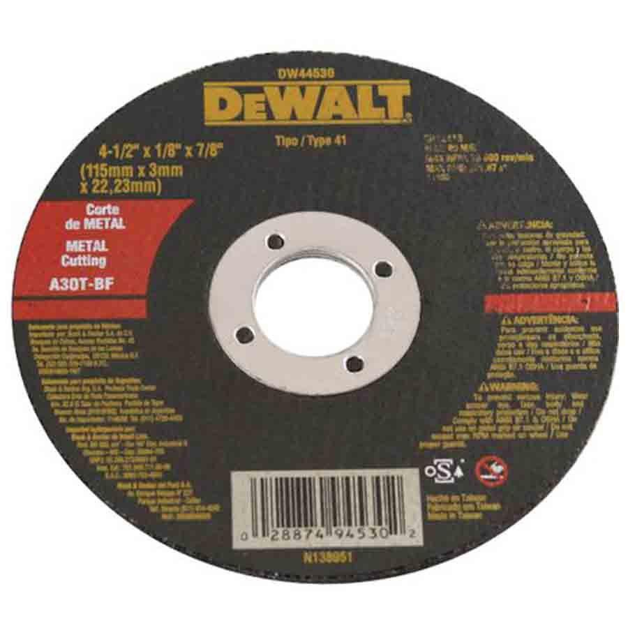 KIT COM 10 DISCOS ABRASIVO CORTE METAL - DEWALT - DW44530