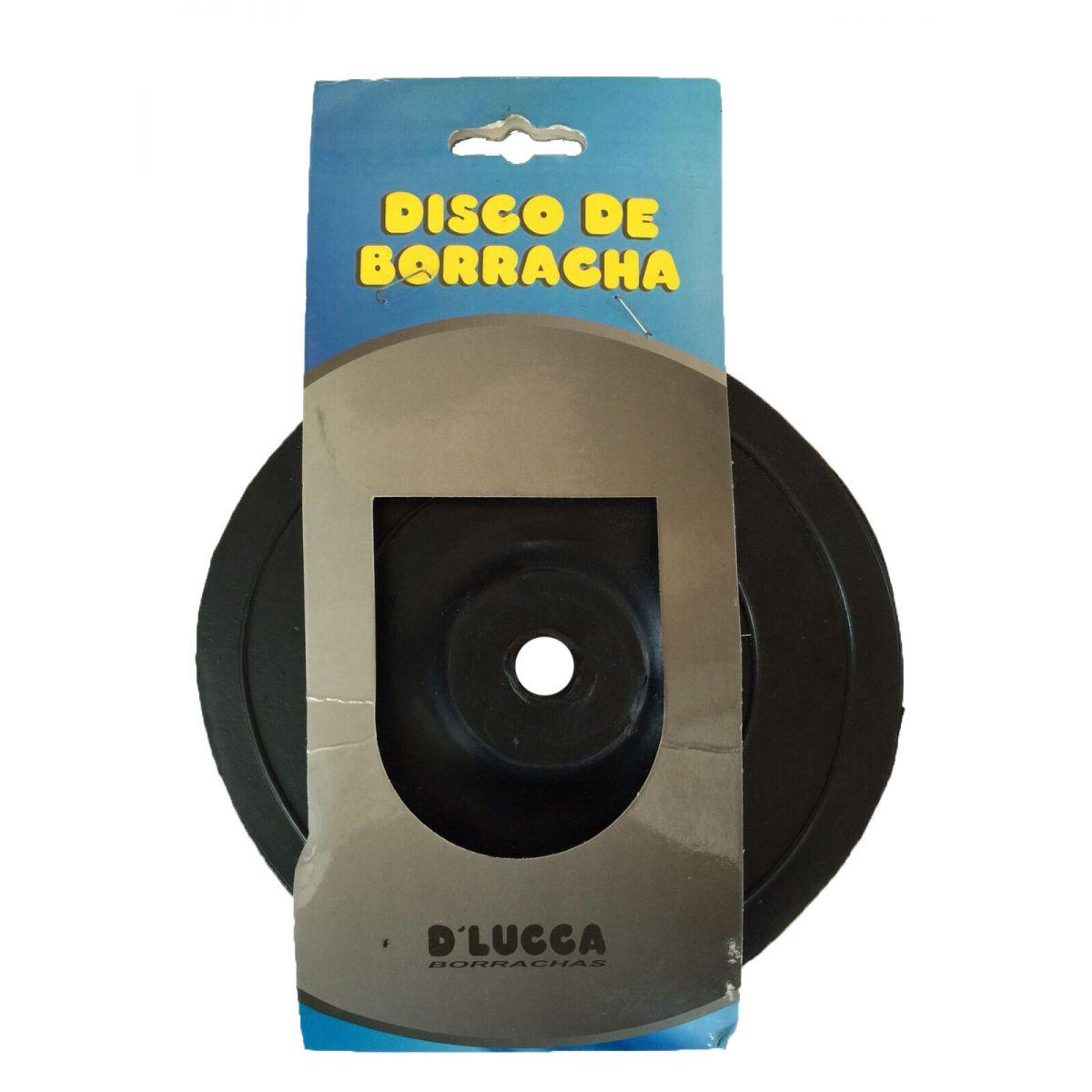 """DISCO DE BORRACHA 7"""" FURO 5/8"""" D LUCCA BORRACHAS"""
