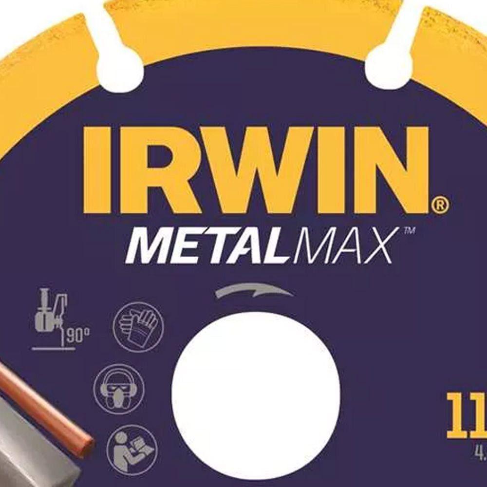 Disco de Corte 4.1/2 POL (115 MM) METALMAX IRWIN