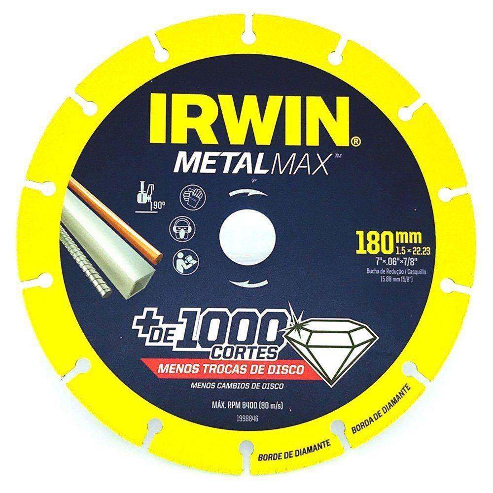 "DISCO DE CORTE 7""x7/8 POL METALMAX IRWIN 1998846"