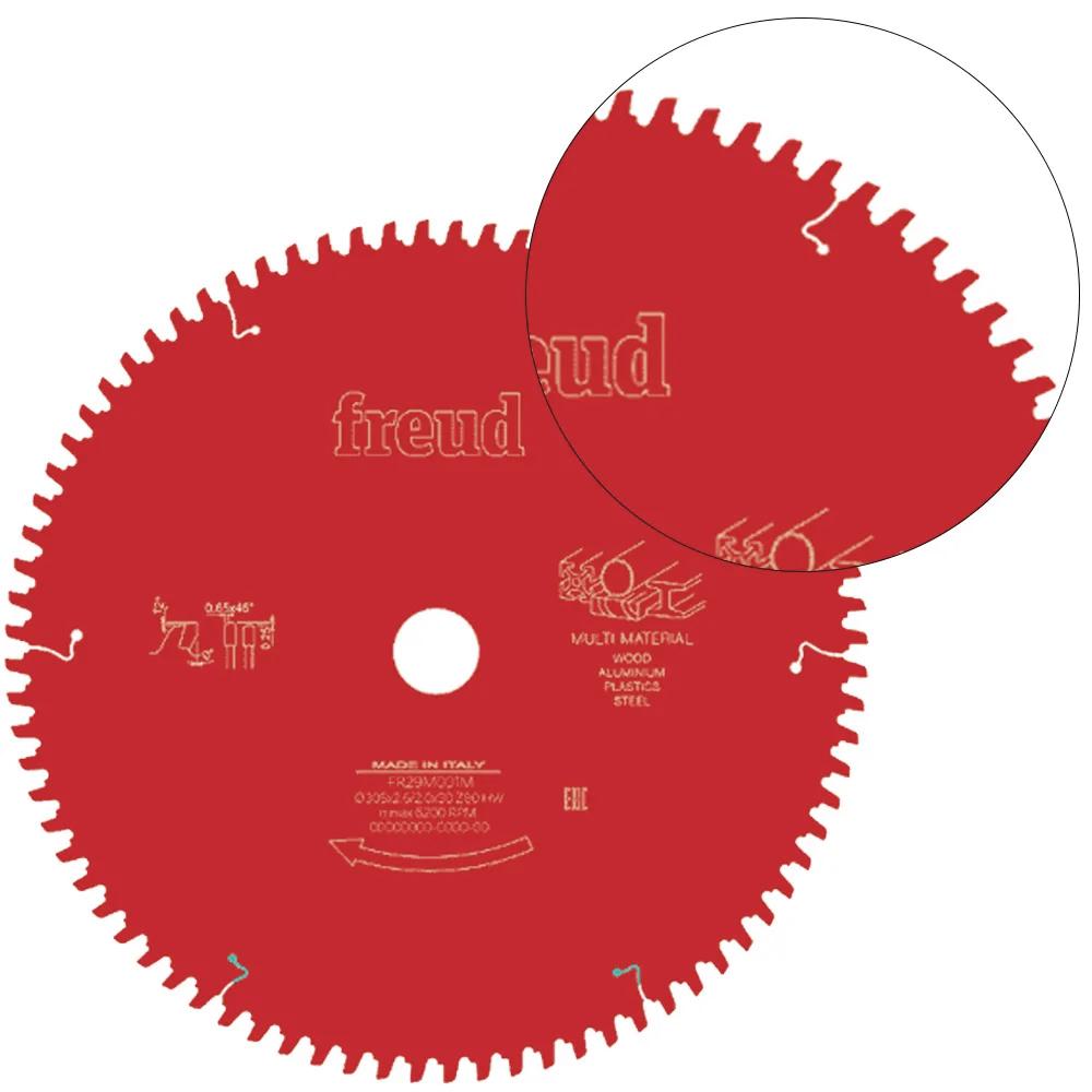DISCO DE SERRA CIRCULAR MULTI MATERIAL 305 MM COM 80 DENTES - FR29M001M FREUD