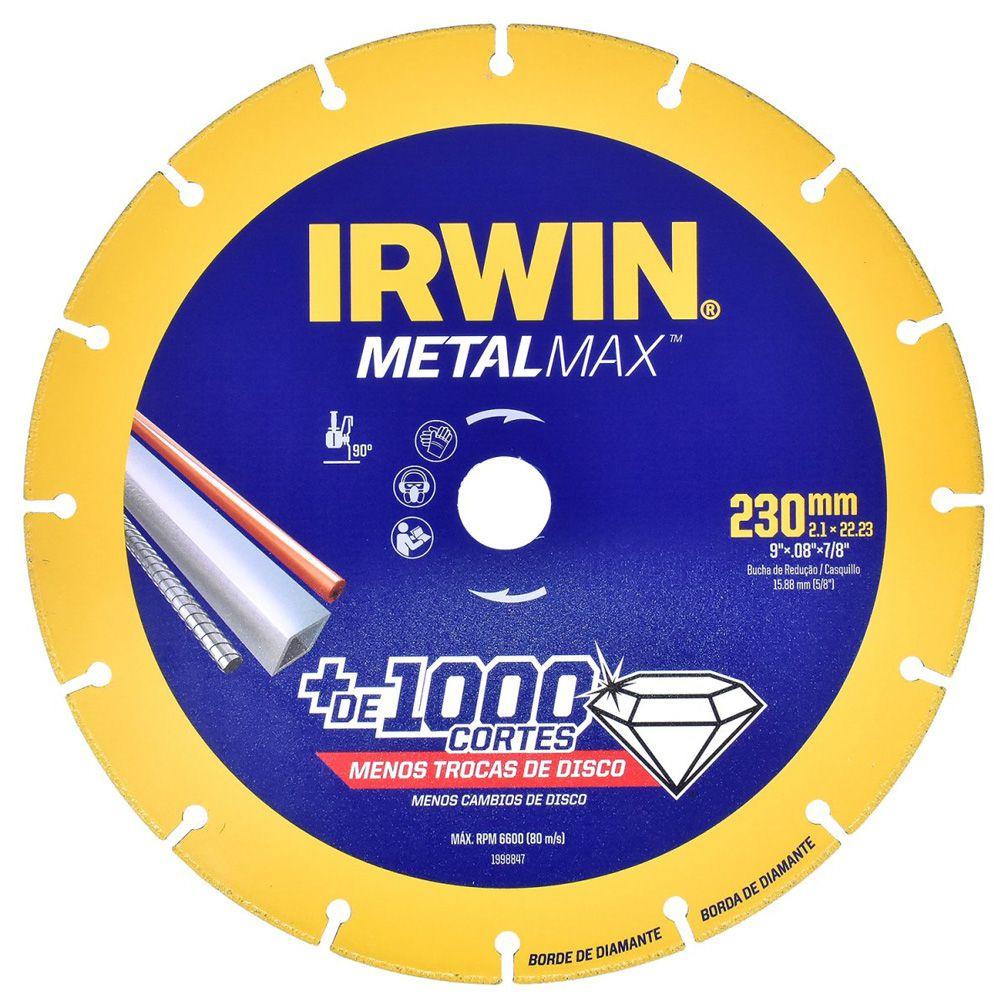 DISCO DIAM CORTE METALMA X AG/CS 9X7/8 - 1998847 IRWIN