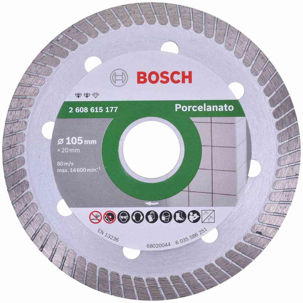 DISCO DIAMANTADO CONTINUO 105X20MM PORCELANATO - BOSCH