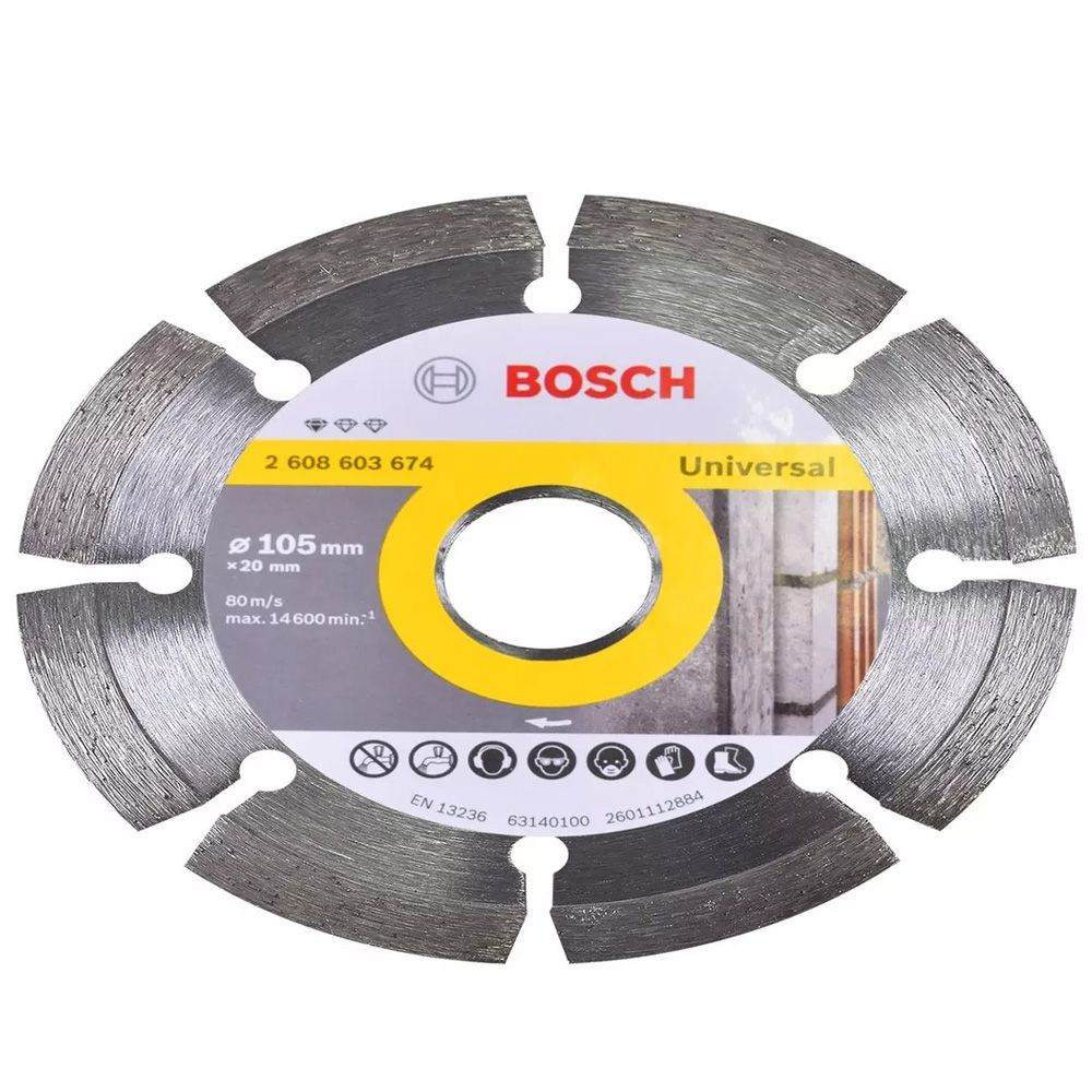 DISCO DIAMANTADO SEGMENTADO 105MM - 2608603674000 BOSCH