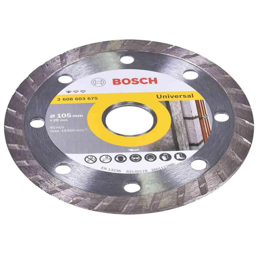 DISCO DIAMANTADO STANDARD TURBO 105MM - 2608603675000 BOSCH