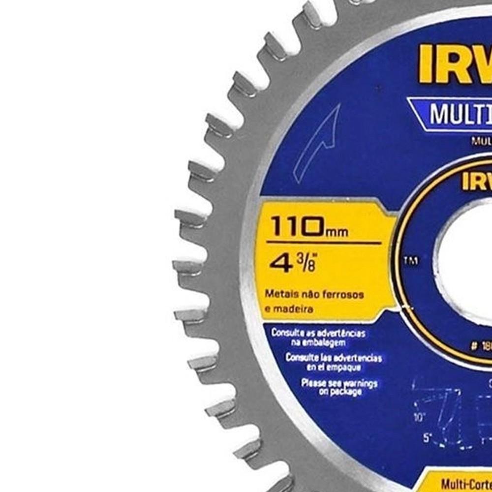 DISCO DE SERRA CIRCULAR MULTICORTE 110 MM COM 40 DENTES - 1863683 IRWIN