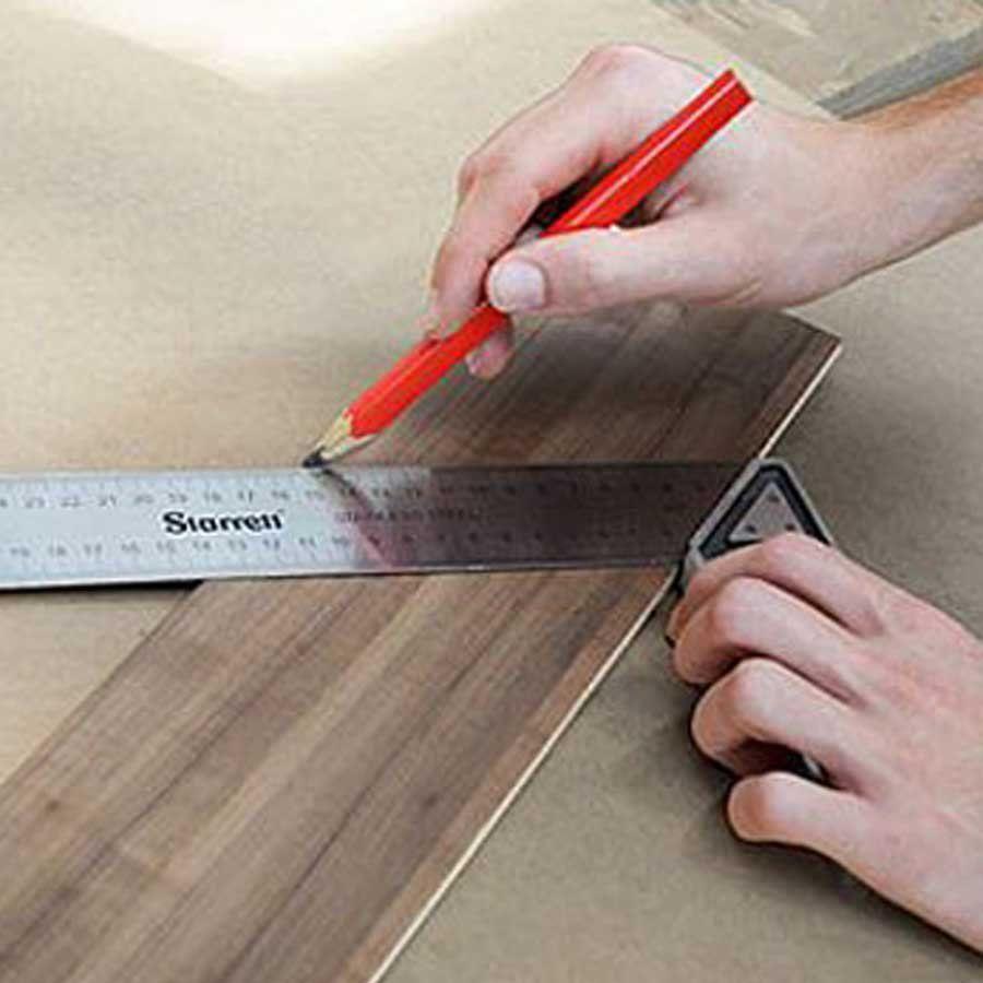 Esquadro para Carpinteiro em Aluminio 350mm - Starrett K53M-350S