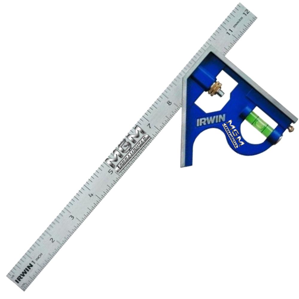 Esquadro Combinado Profissional Irwin 12 Pol. 30,5cm 1884635
