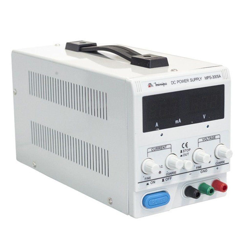 FONTE DE ALIMENTAÇÃO DC 0-30V/0-5A/0-990MA CANAL S - MINIPA MPS-3005A