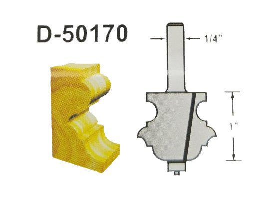 FRESA DE BORDA DIAMETRO 1-3/8 HASTE 1/4 D-50170 MAKITA