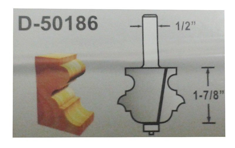 FRESA DE BORDA DIAMETRO 2-1/4 HASTE 1/2 D-50186 MAKITA