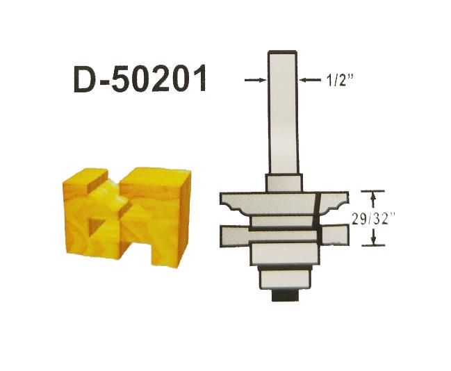 FRESA P/ENCAIXES DIAM 1-5/8 HASTE 1/2 - D-50201