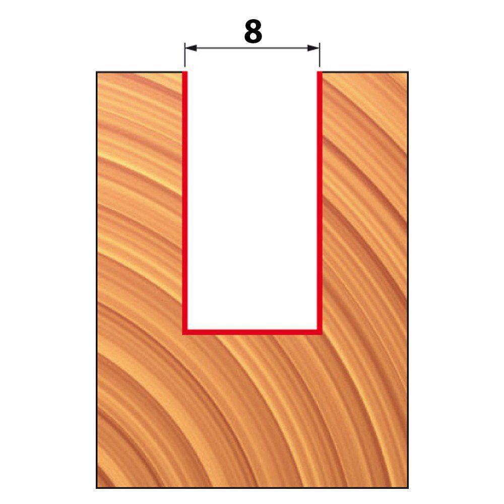 Fresa Reta Paralela para Tupia Corte 31,8Mm 12-10712 Freud