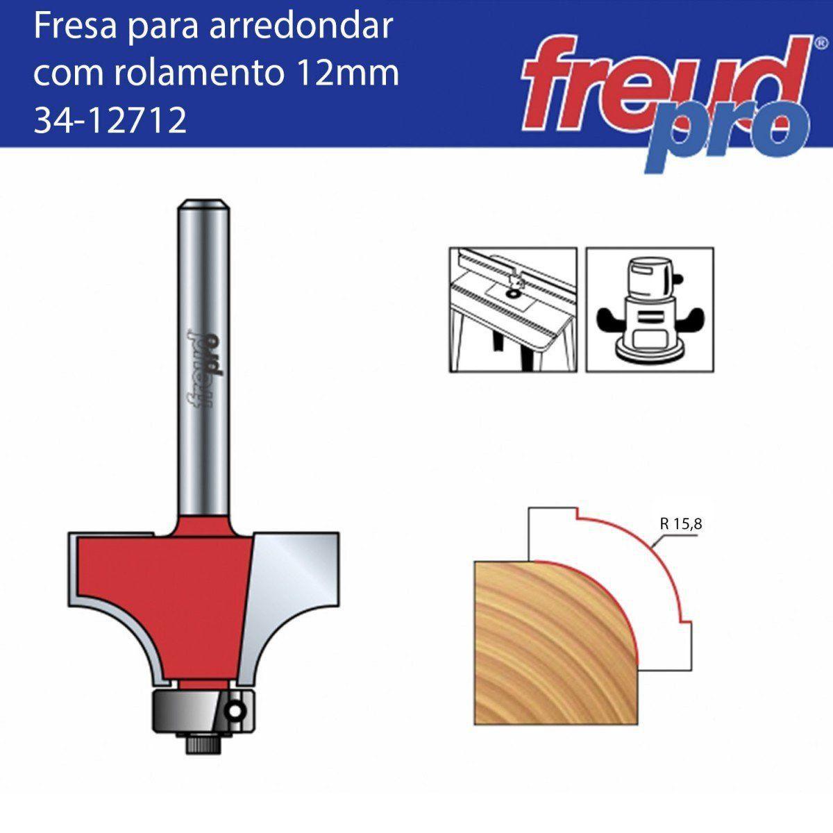 Fresa Tipo Cordão para Tupia Raio 15,8mm 34-12712 Freud