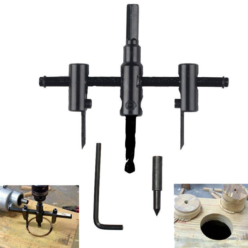 Furador Ajustável Circular Para Furadeira 30-120mm - F000111