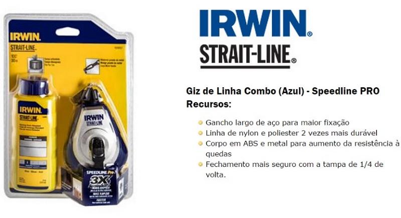 Giz De Linha Combo (azul) - Speedline Pro - 1928057 Irwin