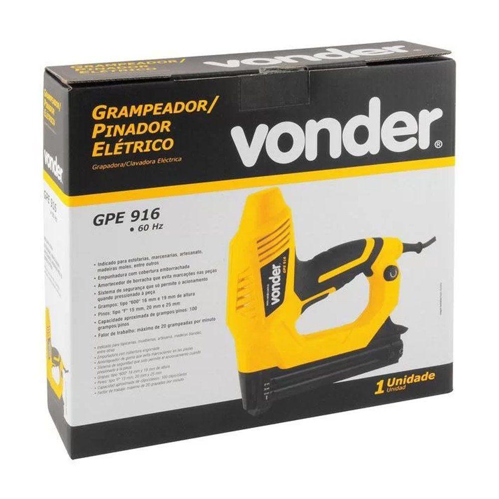 GRAMPEADOR E PINADOR  ELETRICO GPE916 - VONDER