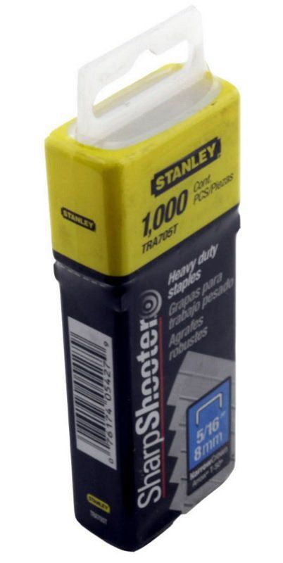 Grampos Pesado 5/16 Com 1000 Peças - 8mm Tra705t Stanley