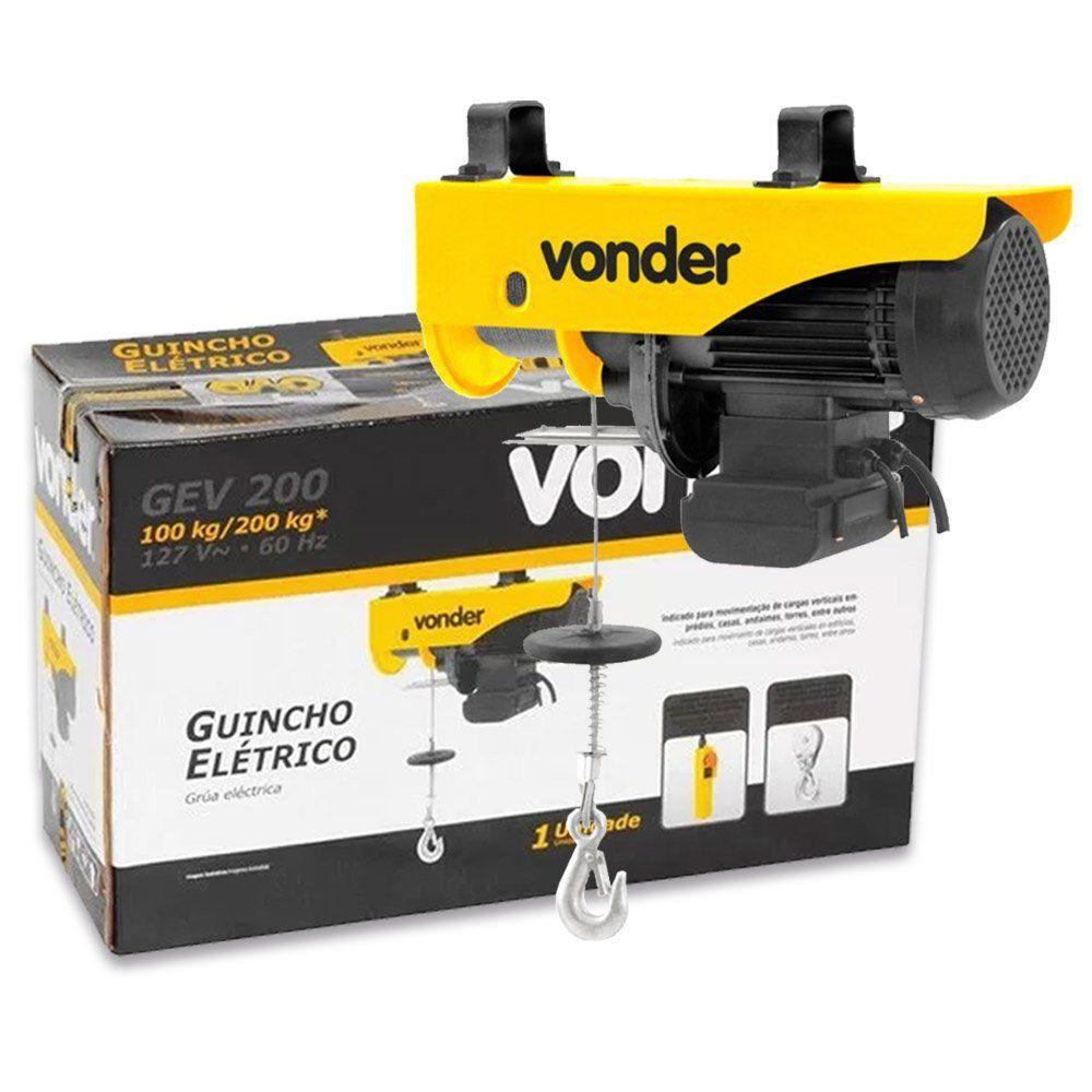 GUINCHO ELÉTRICO 100/200 KG - GEV200 VD VONDER