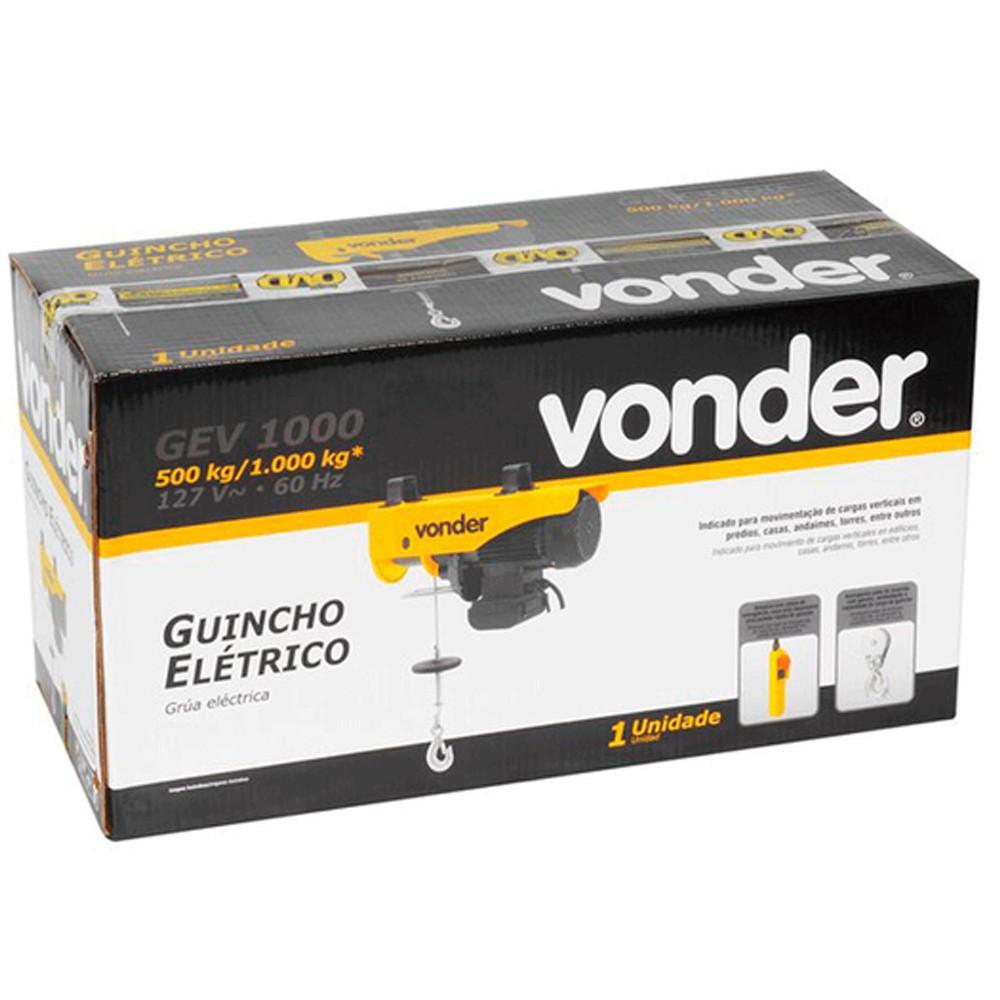 GUINCHO ELETRÉTICO 500/1000KG - GEV1000 VONDER