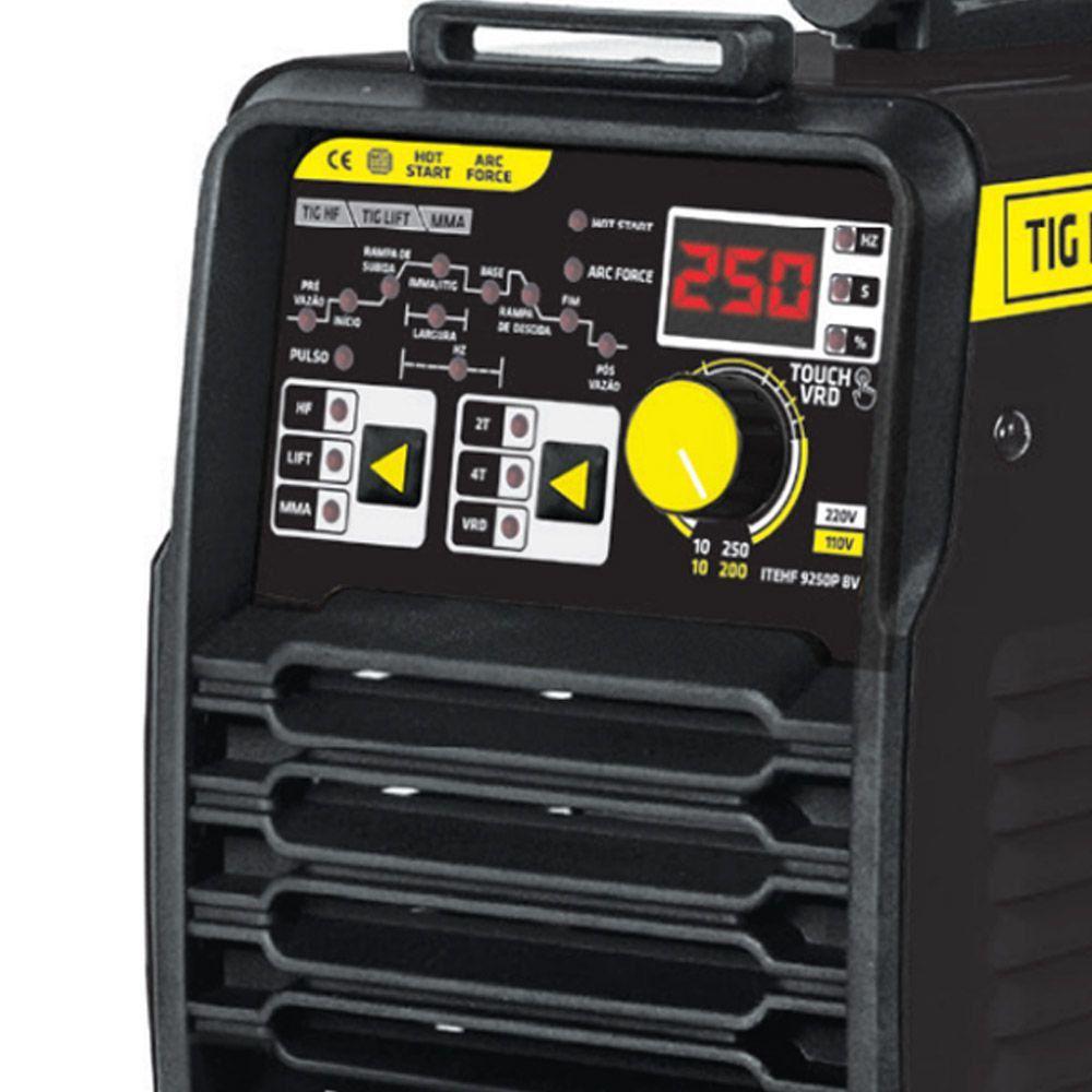 INVERSOR 250 AMPERES (TIG HF/LIFT DC PULSADO) - ITEHF-9250P TORK