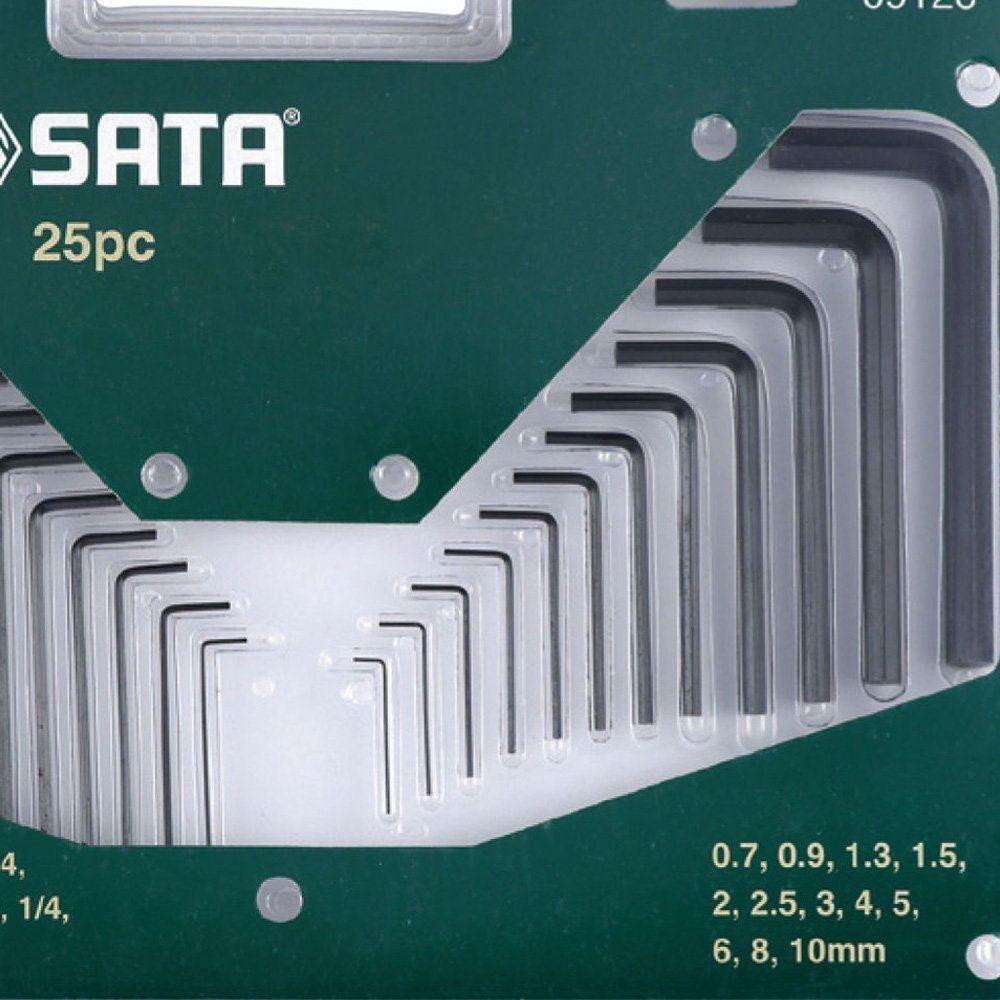 JOGO CHAVE HEXAGONAL SATA 25 PC MM/POL- ST09120SJ