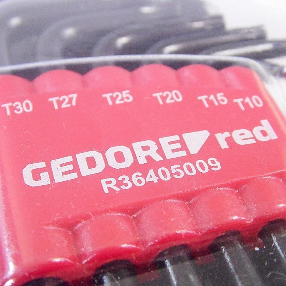 JOGO DE CHAVES L TORX HEXALOBULAR 9 PEÇAS - 3369856 GEDORE RED
