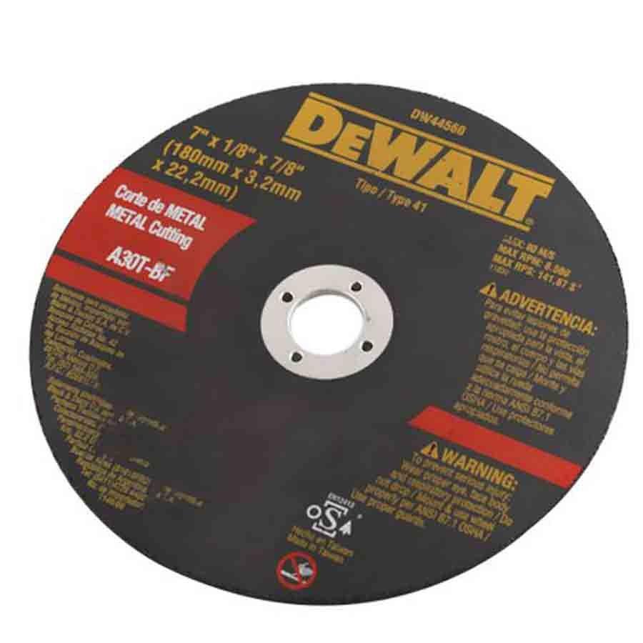 Kit com 10 discos abrasivo corte metal Dewalt DW44560