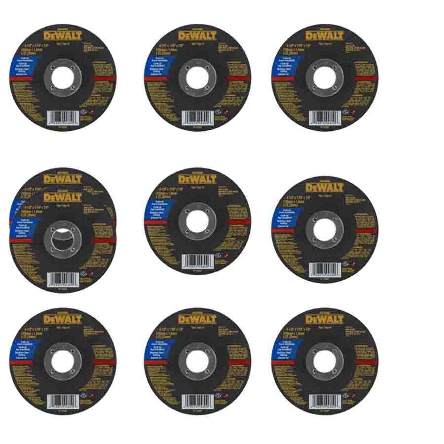 Kit com 10 discos Corte Inox - DW44800 - Dewalt