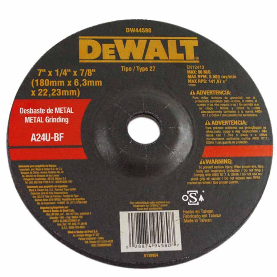 Kit com 10 Discos de  Debaste Metal - DW44580 - Dewalt