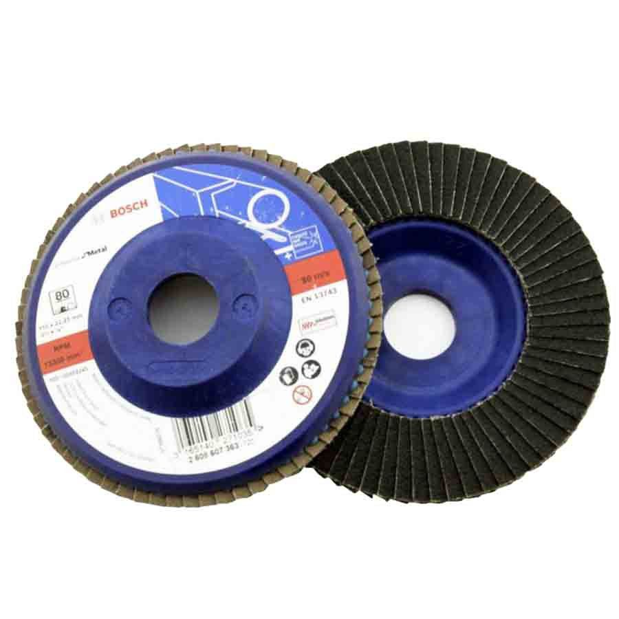 Kit com 10 discos Flap Metal Bosch - 2608607362