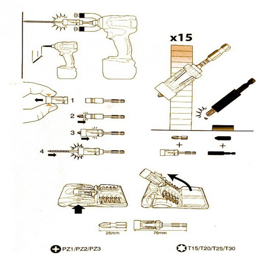 Kit Impact Gold - Conjunto De Bits De Torção 11 Pc B-30754